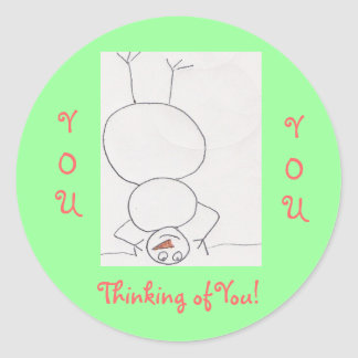 Thinking of You!, Classic Round Sticker