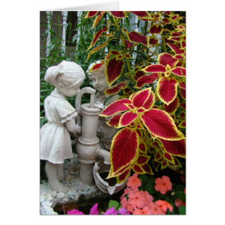 Thinking of You,Coleus With Pump Figurine Greeting Card