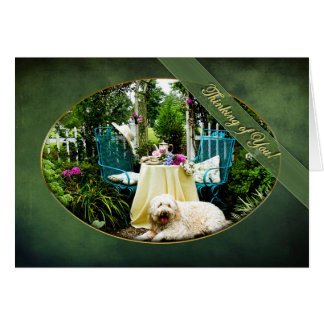THINKING OF YOU -COTTAGE GARDEN - Dog - TeaTime Card