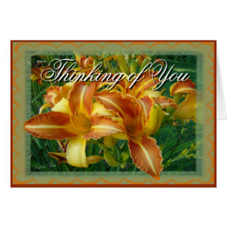 Thinking of You-crnflw-customize Greeting Card