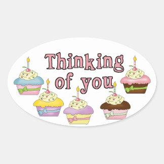 Thinking of You Cupcake Sticker