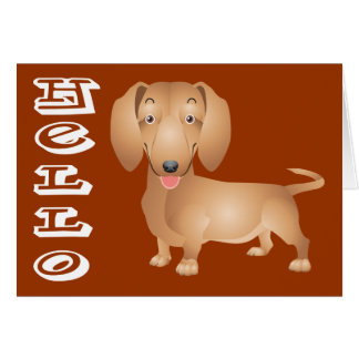 Thinking of You Dachshund Puppy Dog Note Card