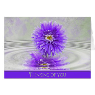 thinking of you-dahlia in ripple water card