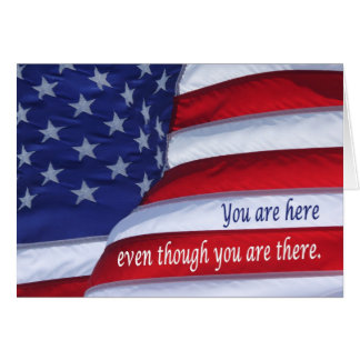 Thinking of you deployed soldier greeting card
