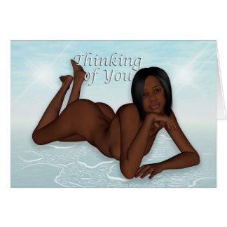 Thinking of You Ebony Nude Card