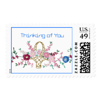 Thinking of you embroidery Postage Stamp