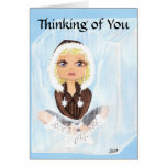 Thinking of You Eskimo in Ice Quantum Cutie Greeting Card