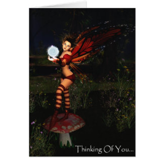 Thinking Of You Faerie Card