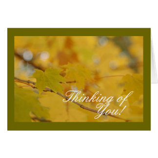 Thinking of You Fall Leaves Card