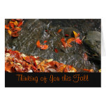 Thinking of You Fall Waterfall Card