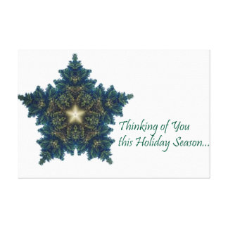 Thinking of You Fir Christmas Star Canvas Print