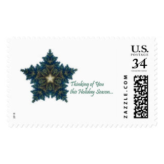 Thinking of You Fir Christmas Star Postage