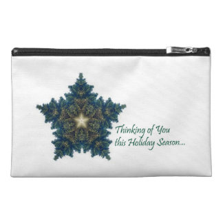 Thinking of You Fir Christmas Star Travel Accessory Bag