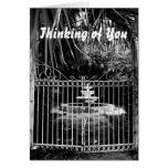 Thinking of You, fountain at old hotel Greeting Card