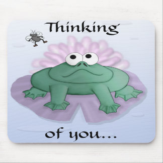 Thinking of you frog and fly mousepad