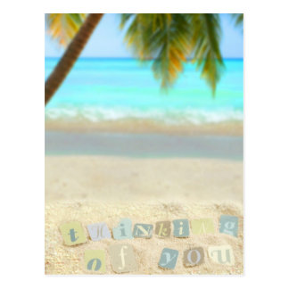 Thinking of you from a tropical beach postcard