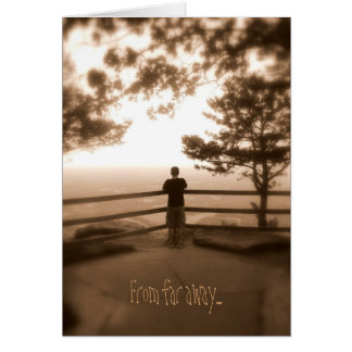 Thinking of you from far away card