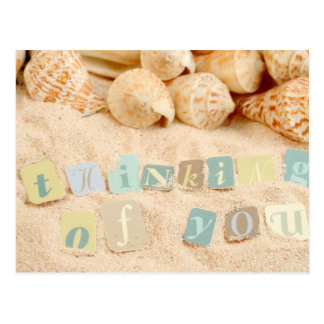Thinking of you from the beach postcard