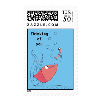 Thinking of You Funny Postage Stamps