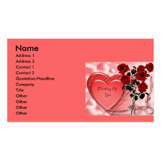 Thinking Of You Glitter Graphic Comments | Grap... Business Card