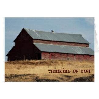 Thinking of You Greeting Card, Barn Card