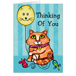 Thinking Of You Greeting Card For Cat Lovers