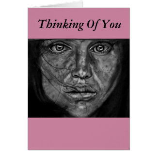Thinking Of You Greeting card. Let them know Card