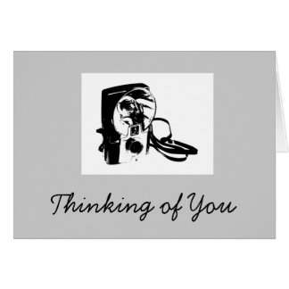 Thinking of You Greeting Card with Brownie Camera