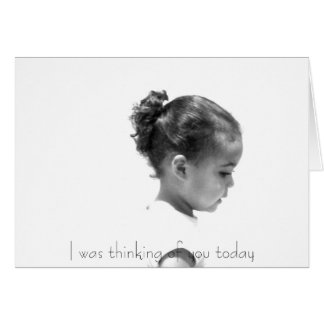 Thinking of you Greeting Greeting Card