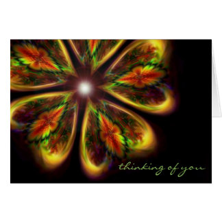 """Thinking of You ~ """"infinity's garden"""" fractal art Card"""