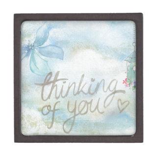 Thinking of you jewelry box