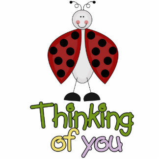 Thinking Of You Ladybug sculpture Photo Cutouts