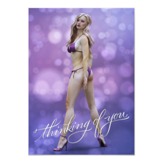 """Thinking of You Laurie 4.5"""" X 6.25"""" Invitation Card"""