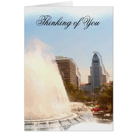 Thinking of You,Los Angeles, City Hall_ Card