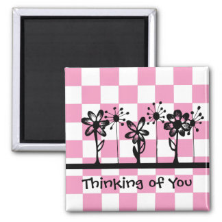 Thinking of You 2 Inch Square Magnet