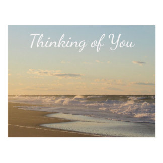 Thinking of You Nantucket Beach Sunrise Postcard