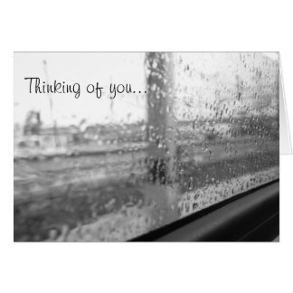 Thinking of You on a Spring Afternoon Train Ride Card