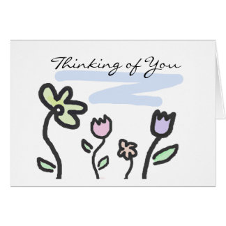 Thinking of You - Pastel Garden Card