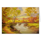 Thinking of You Peaceful Autumn Trees and River Card