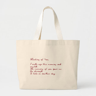 Thinking Of You Poem Tote Bags