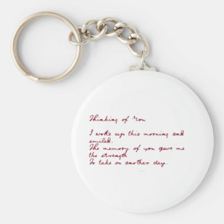 Thinking Of You Poem Key Chain
