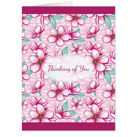 Thinking of You Pretty Cherry Blossoms Card