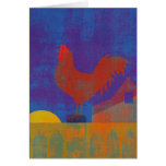 Thinking of You Rooster Painting Card