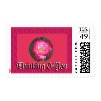 Thinking of You Rose Pink Postage