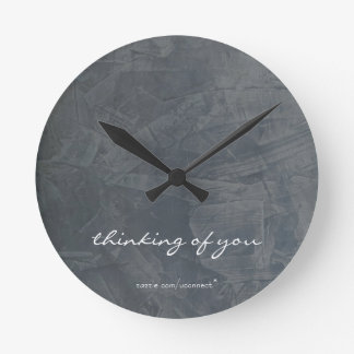 Thinking Of You Slate Wall Clock