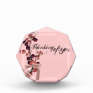 Thinking of You Small Acrylic Octagon Award