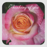 Thinking of you square stickers