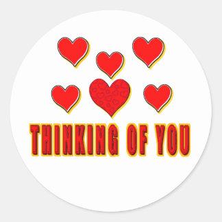 Thinking of You Round Sticker