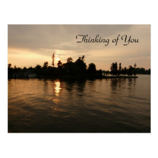 """""""Thinking of You""""- Sunset Reflections Postcard"""