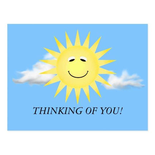 THINKING OF YOU SUNSHINE POSTCARD | Zazzle